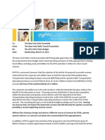 Nypta Letter on STOA / Corporate and Utilities Tax