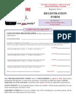 2012 Convention Registration