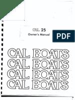 Cal 25-2 Owners Manual