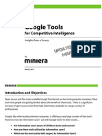 Google Tools for Competitive and Marketing Intelligence  (March)