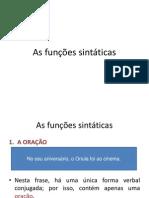 As funções sintáticas