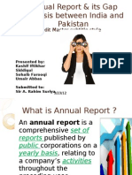 Presentation on Annual Report_Kashif Iftikhar