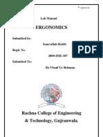 Ergonomics Lab Manual