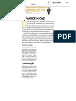 Novas Clínicas - Informe O DIA - 22-03-12
