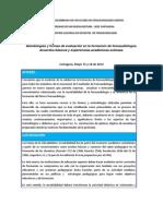 Propuesta general del encuentro nacional de docentes de fonoaudiología