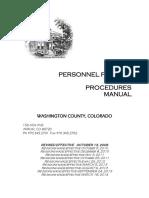 Washington County Personnel Policies 2016