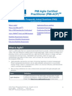Agile Certification Integrated Services FAQ IT 2011-001