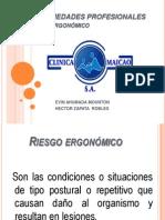 Enfermedades Profesionales de Riesgo Ergonomico