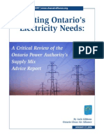 "\""Meeting Ontario\\\'s Electricity Needs\\\"""