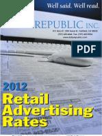 Daily Republic 2012 Rates