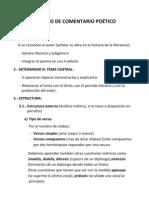 MODELO DE COMENTARIO POÉTICO