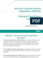 NSCSO Staff Business Case Briefings Feb 2012 - Barnet Council