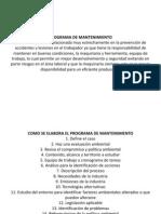 PROGRAMA DE MANTENIMIENTO