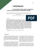 Concentraciones de CA, P, Mg en Vacas Preparto