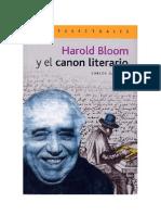 Harold Bloom y El Canon Literario