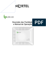 IpLDK-60 Descricao Facilidades Manual Operacao Portugues