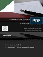 Novedades Fiscales 2012