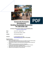 Community Economic Development - CDAE 326 Z1 - Course Syllabus