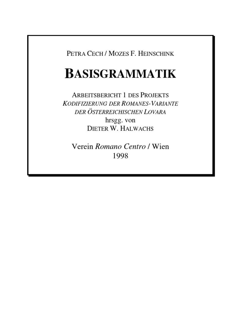 Basisgrammatik - Romanes-Variante der österreichischen Lovara