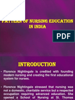 Pattern of Nursing Education in India