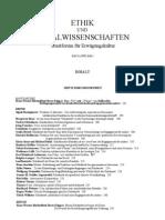 PDF Ethik und Sozialwissenschaften, Streitforum für Erwägungskultur, 10, H 2