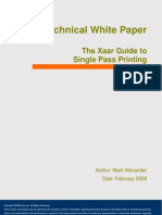 Xaar Guide to Single Pass Printing White Paper