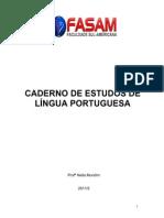 Caderno de estudos de língua portuguesa