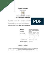 Sancion Carlos Roberto Restrepo Orjuela Asesor Alcaldia Espinal Tolima Orlando Duran