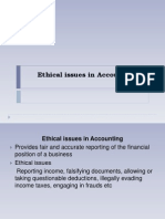Ethical Issues in Accounting and Finance