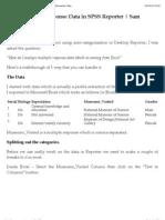 Excel Multiple Response Data in SPSS Reporter | Sam Winstanley's Blog