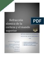 Refraccion Entre Corteza y Manto Superior ESIA IPN MEXICO