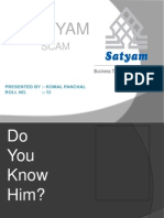 44699797 Ppt on Satyam Scam
