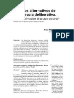 Modelos Alternativos de Democracia Deliberativa Estado Del Arte