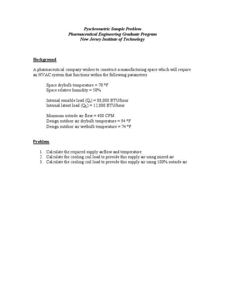 Usefull Calculation Hvac | Humedad relativa | HVAC