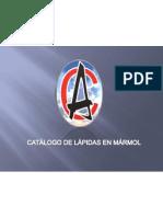 CATALAGO LÁPIDAS EN MARMOL CODIFICADAS