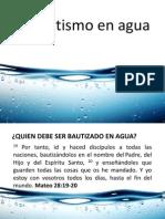 El Bautismo en Agua