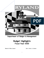 Fiscal Year 2032 Budget Highlights