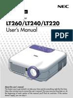 Projector Manual 1842