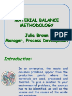 Material Balance Methodology