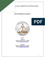 IAMEE Investor Behavior Analysis