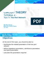 EBEC3103 (Topic 9) Circuit Theory