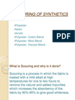 Scouring of Synthetics