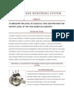 Liquid Tank Monitring System