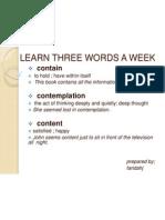 Learn Three Words a Week