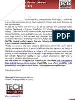 London Silicon Roundabout Weekly Newsletter 23-Mar-2012