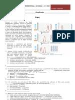 Teste de Avaliação - Biologia (1º Teste  20011 12)