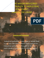 What Are Major Industries That Contribute to Industrial Pollution