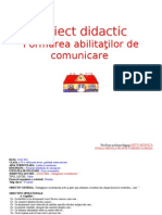 Proiect Didactic Abilitati de Comunicare