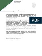 Mise Au Point Concern Ant Le Terrain de l'Ambassade de France - 24-03-2012