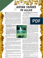 Giving Thanks to Allah-Harun Yahya-Www.islamchest